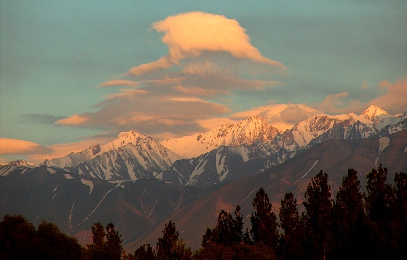 Горы Таласский Алатау. Закат.