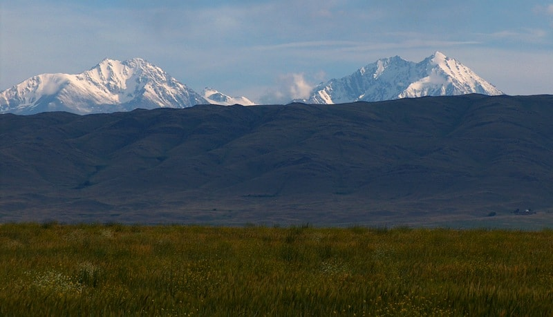 Вершины в горах Таласский Алатау.