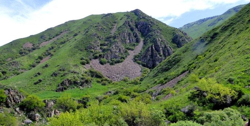 Природные достопримечательности ущелья Кокбулак.