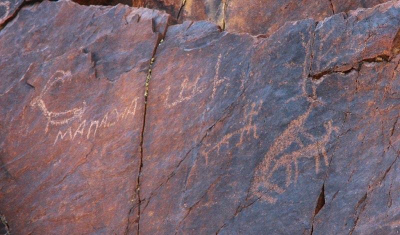 The petroglyphs of  Dardamty.