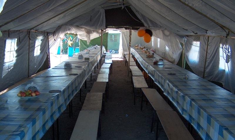 Обед на 200 человек в урочище Тамгалы-тас.