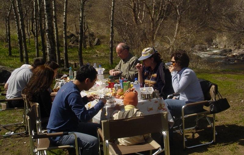 Пикник в Тургеньском ущелье.