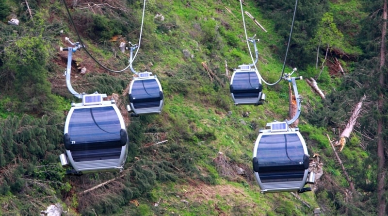 Cable way to vicinities of valley Gorelnik.