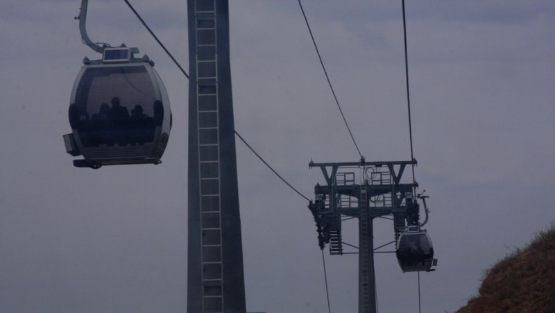 Cable way to vicinities of valley Medeo.