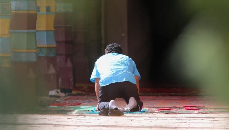 В мечети.