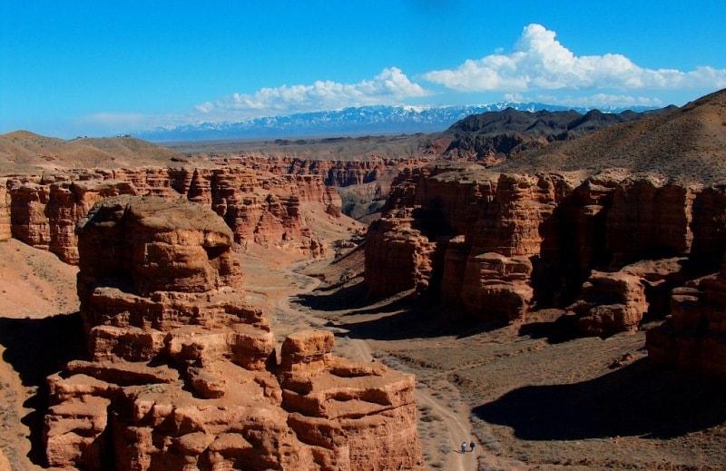 Река Чарын прорезает карбонового возраста и интрузивные породы, слагающие горы Кулуктау, образуя при этом долину-каньон. Этот чрезвычайно живописный участок очень разнообразен в геолого-геормофологическом отношении.