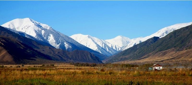 Отсюда открылся вид на западную часть долины реки Чилик.