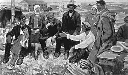 К. М. Шаяхметов. «В нашем совхозе». 1968. Собственность министерства культуры Казахстана. Алматы.
