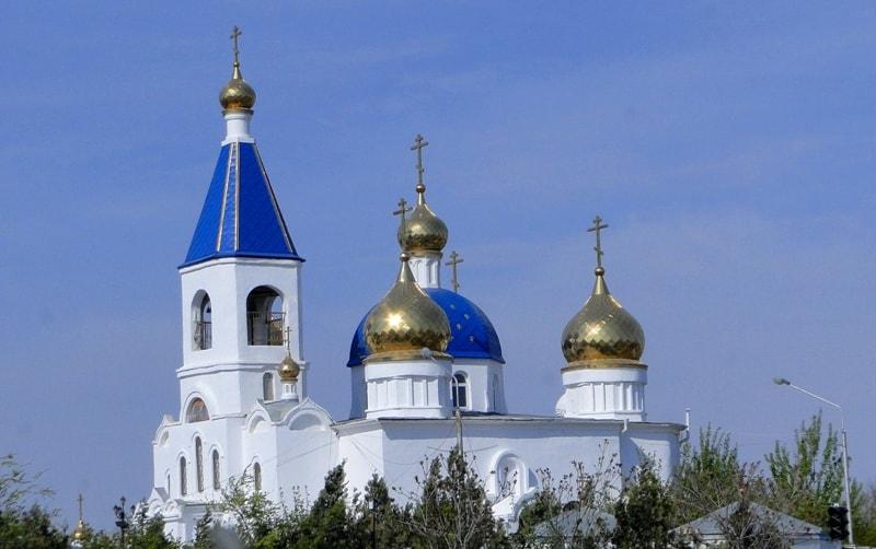 Blagovechenskiy Cathedral in Aktau.