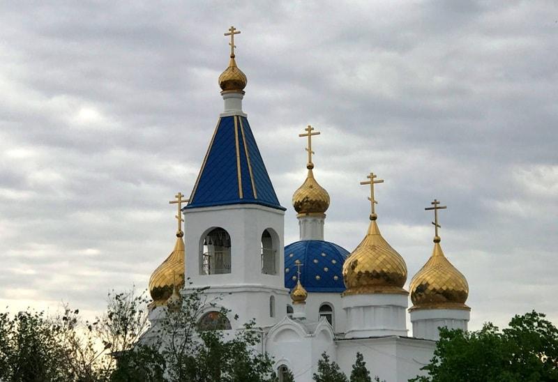Orthodox church the Blagoveshchenskiy in Aktau.