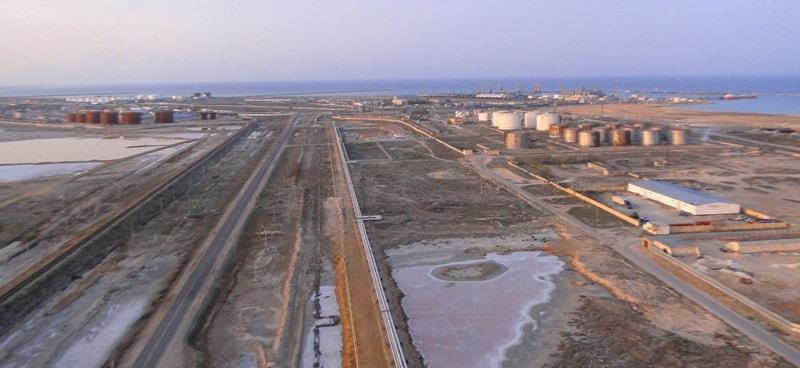 Sea port of Aktau.