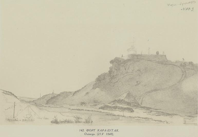 Fort Karabutak. Design Taras Shevchenko.