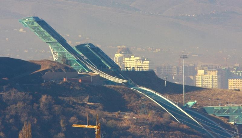 Алматы. Вид с горы Кок-Тобе.