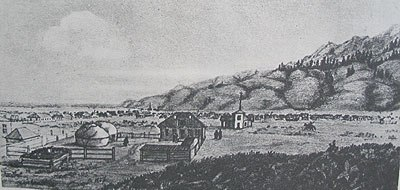 Площадь в укреплении Верный. 1857 год.