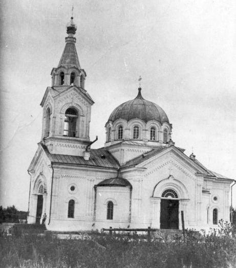 Каменный Покровский собор 1882 года постройки. Разрушен стихией через 5 лет построен деревянный. Снесли в 1934 году.
