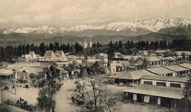Общий вид на город Верный.
