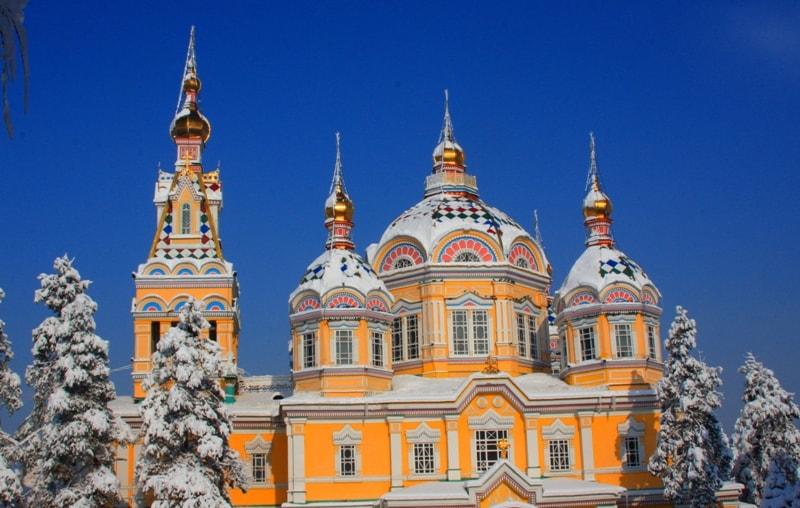 Zenkov Cathedral in Almaty.