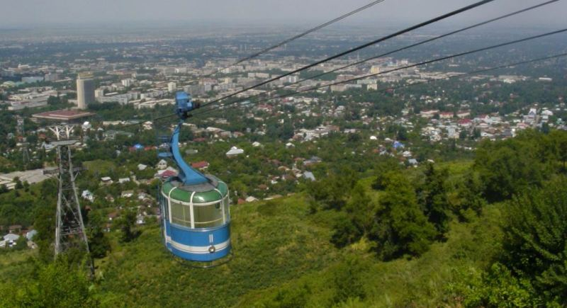 Cable way Kok-Tobe in Almaty