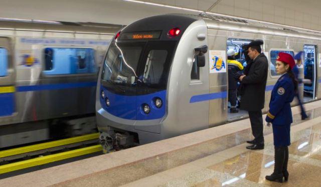 Открытие метро в Алматы.
