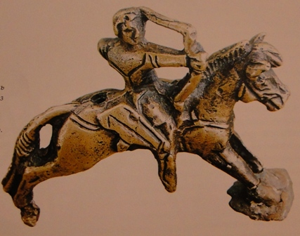 Archer. A detail of the fixture from vicinities of Almaty. V - II c.c. B.C.