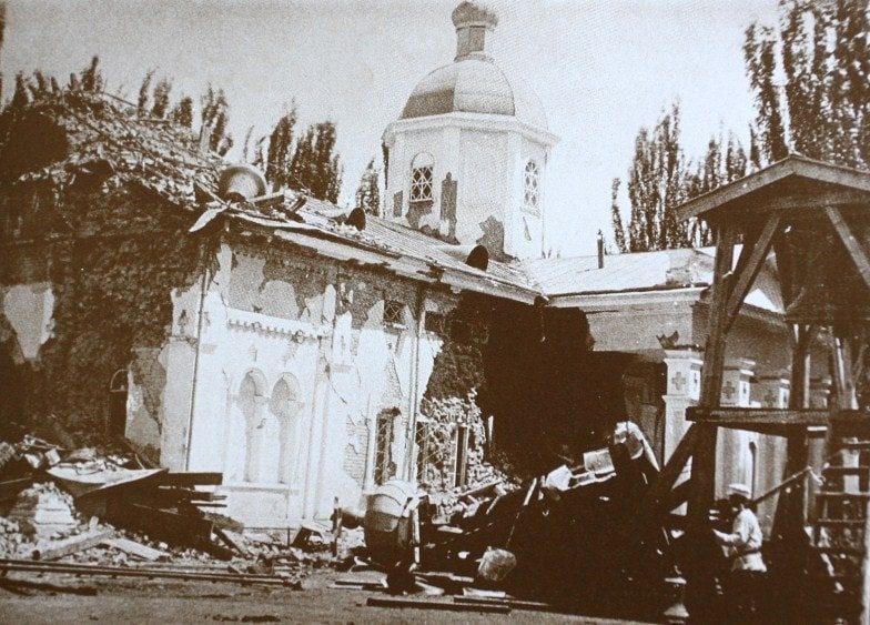Cофийский кафедральный собор после землетрясения 1887 года.