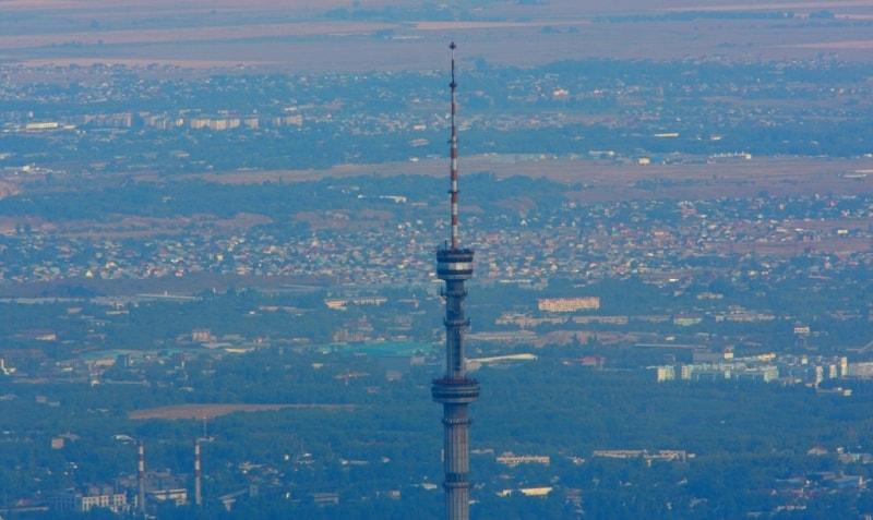 Телевизионная башня Кок-Тобе. Вид из урочища Кок-Жайляу.