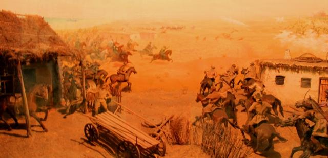 """Диарама в музее сражение """"Аральская дуга. Август - сентябрь, 1919 года""""."""