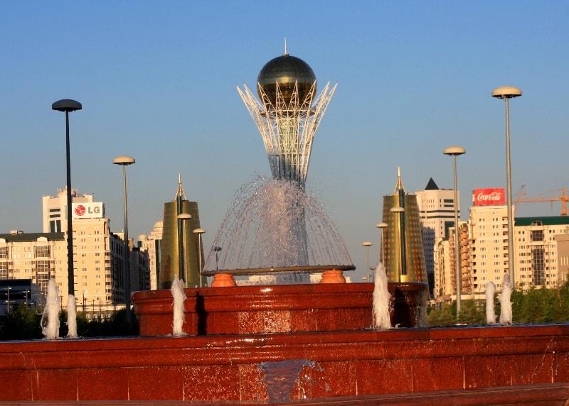 Baiterek monument in Astana.