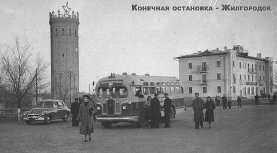 Конечная остановка общественного транспорта у Жилгородка.