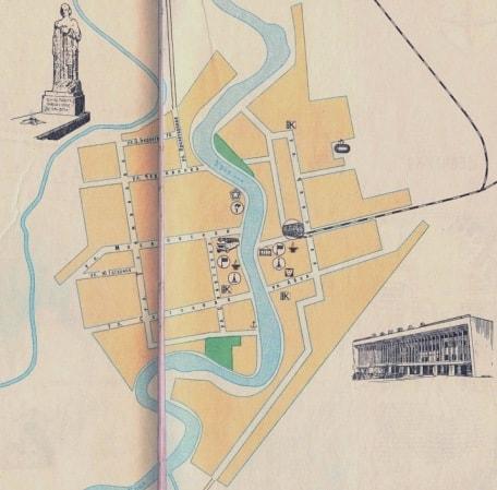 Одна из первых туристских схем города Атырау.