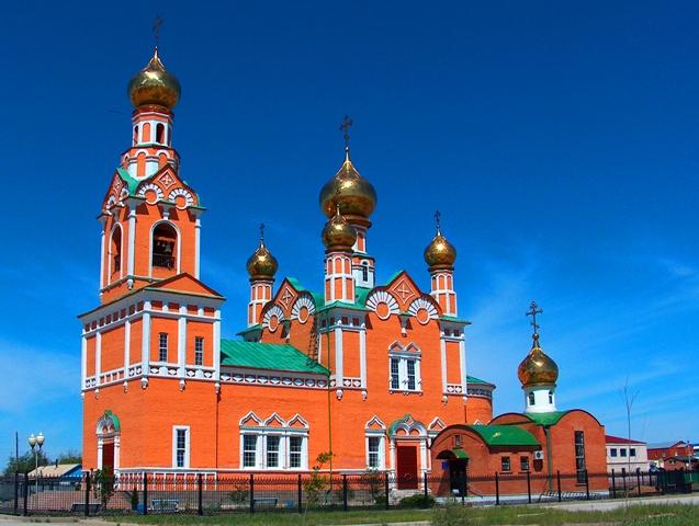 Православный храм в Атырау.
