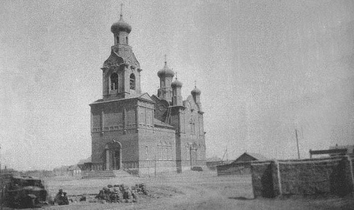 Успенский собор  в Атырау. Фотография конца XIX века, автор неизвестен.