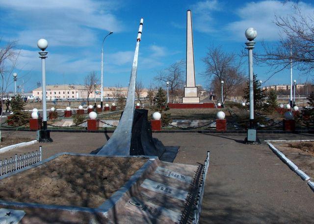 Мемориал погибшим ракетчикам в городе.