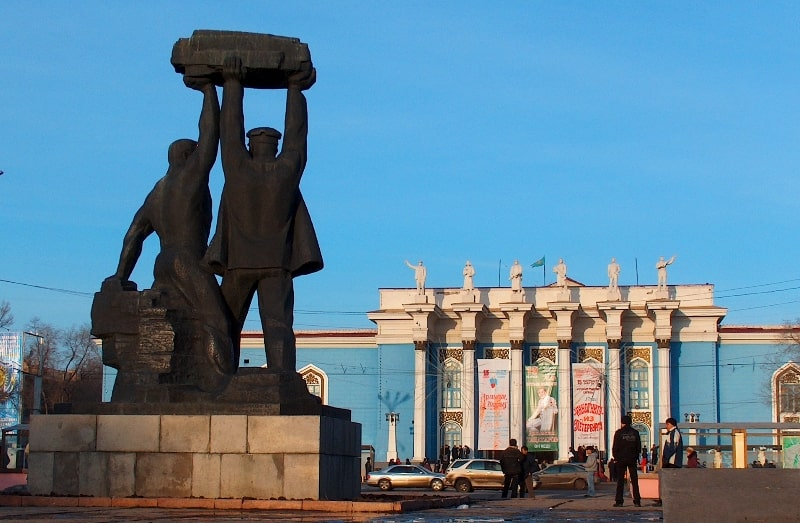 Monument Miner's Glory in Karaganda.