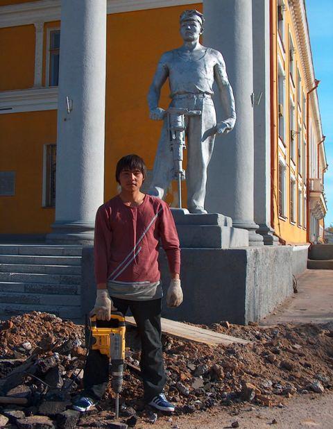 Ремонт дома культуры металлургов в 2006 году.
