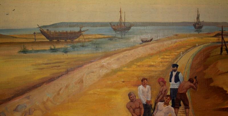 Строительство железной дороги сообщением Оренбург - Ташкент, в период с 1901 по 1905 годы. Окрестности станции Аральское море.