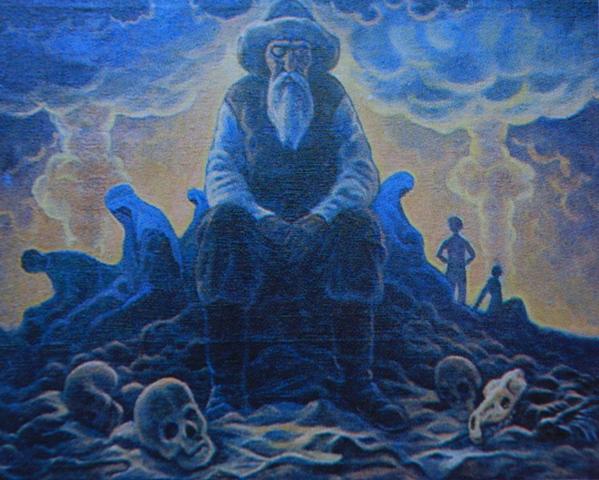 Картина казахстанского художника в период движения за закрытие полигона.