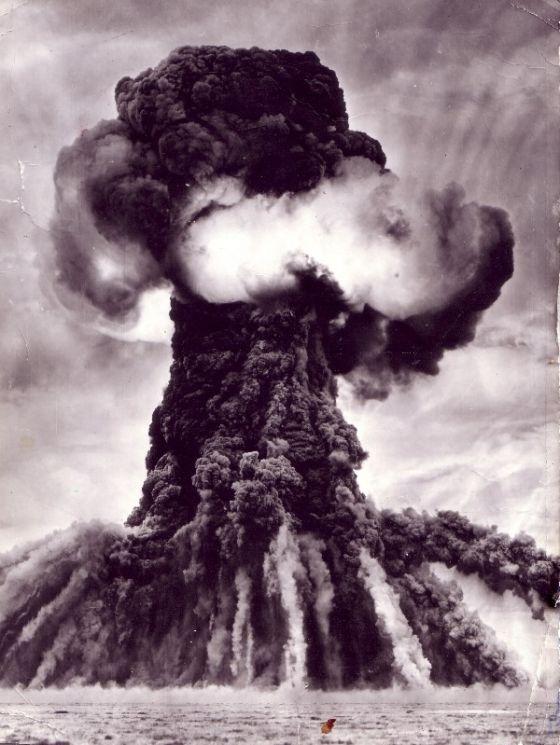 Натуральная величина ядерного взрыва.