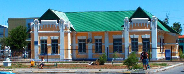 Здание железнодорожной милиции. Памятник городской архитектуры, постройки 1905 года.