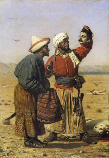 «После удачи». 1868. Холст, масло. 47 х 39 см. Художник Василий Верещагин.