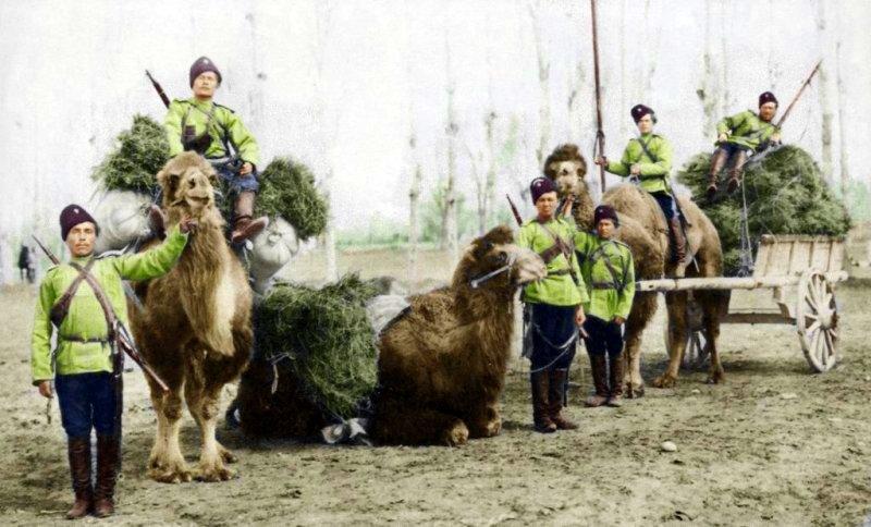 Оренбургские казаки при покорении Туркестана.