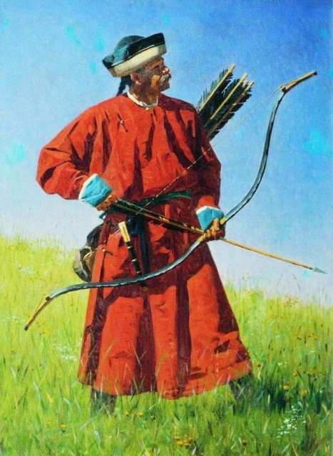 «Бухарский солдат (сарбаз)». 1873 год. Картина В.В. Верещагина.