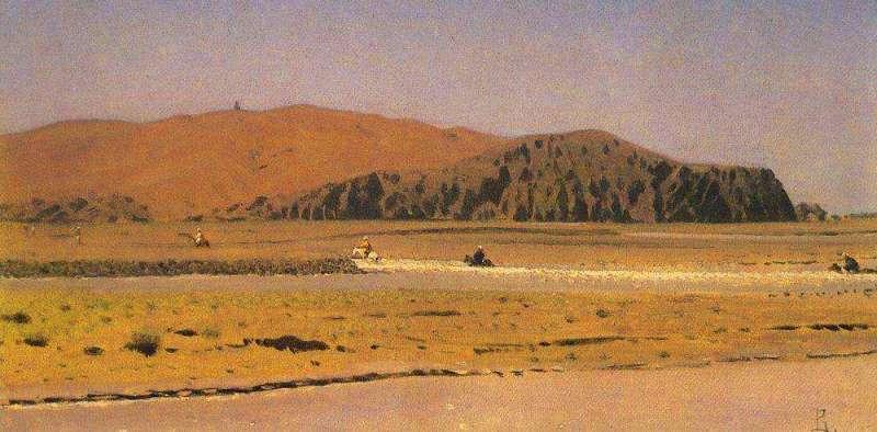 «Всадники, переплывающие реку». Картина В.В. Верещагина.