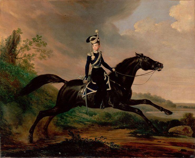 Франц Крюгер. Великий князь Александр Николаевич на коне.