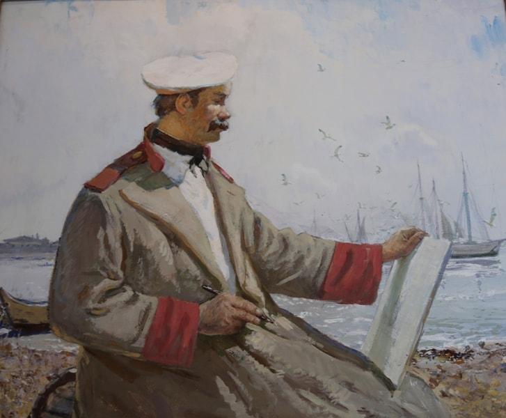 Художник Сулименко П.С. «Тарас Шевченко на Кос-Арале». 1988 год.