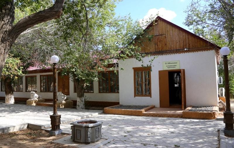 Здание музея Тараса Шевченко в городе Форт-Шевченко.