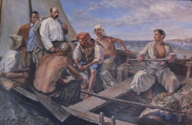 Мотузко О.К. «Возвращение Т. Шевченко с катаорги». 1951 год.