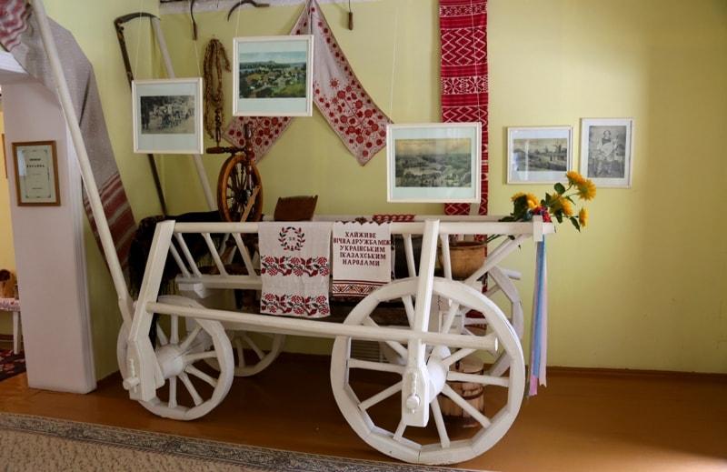 Экспозиции в музее тТараса Шевченко.