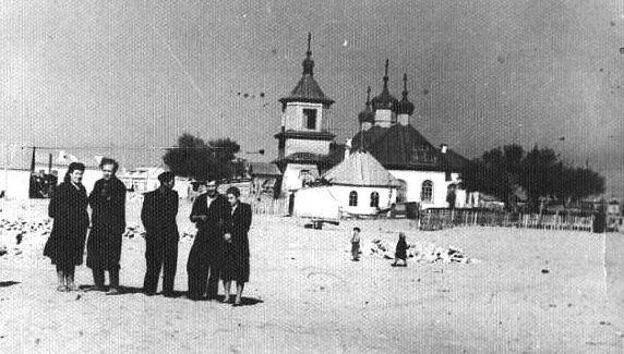 В поселке Баутино. 1954 год. Архив К.Абдрахманова.