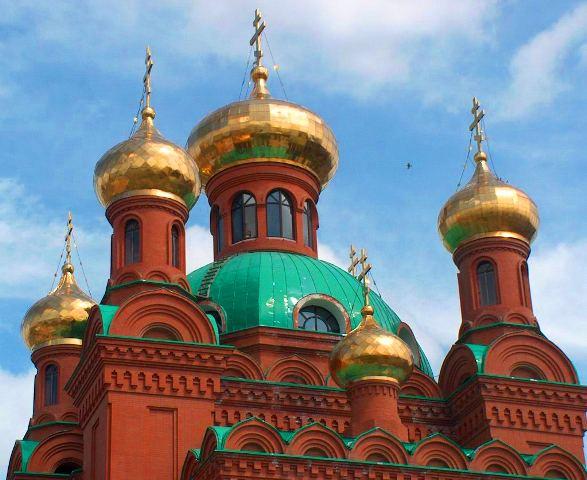 Главные купола Благовещенского Кафедрального собора.